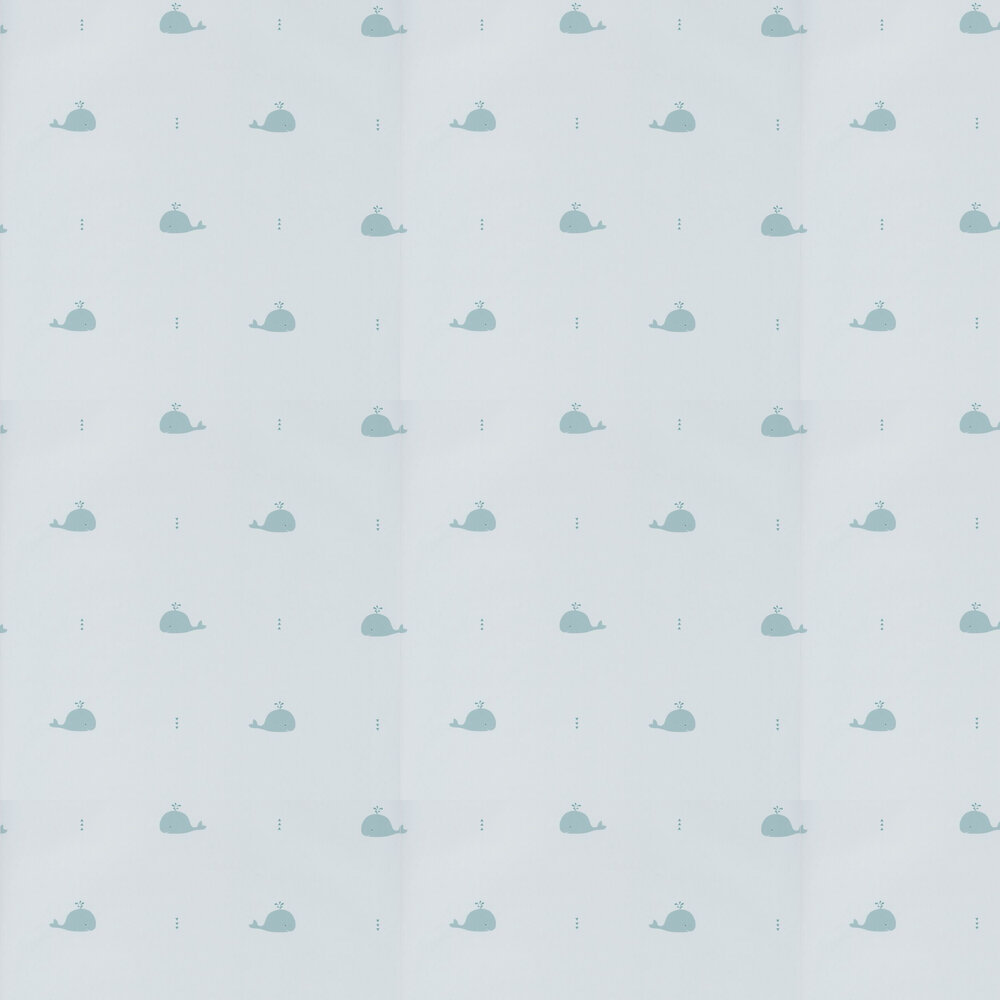 Whale Wallpaper - Blue - by Casadeco