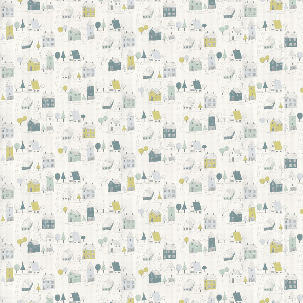 Casadeco Small Village Teal Wallpaper - Product code: HPDM8284 7128