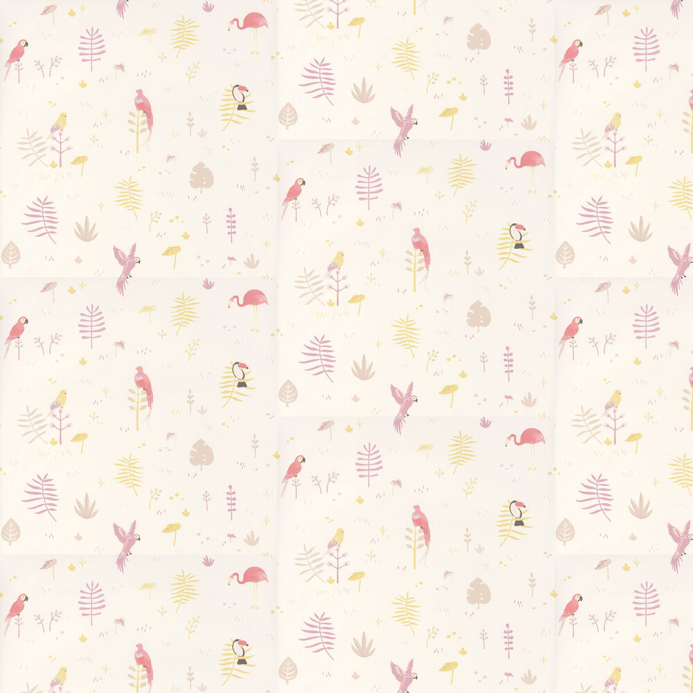 Tropical Wallpaper - Pink - by Casadeco