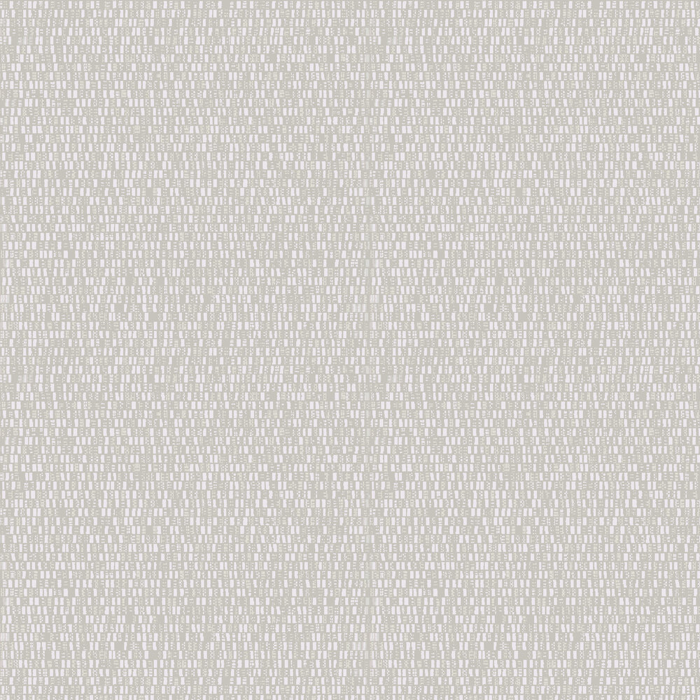 Beat Wallpaper - Light Grey / Magnolia - by Hooked on Walls