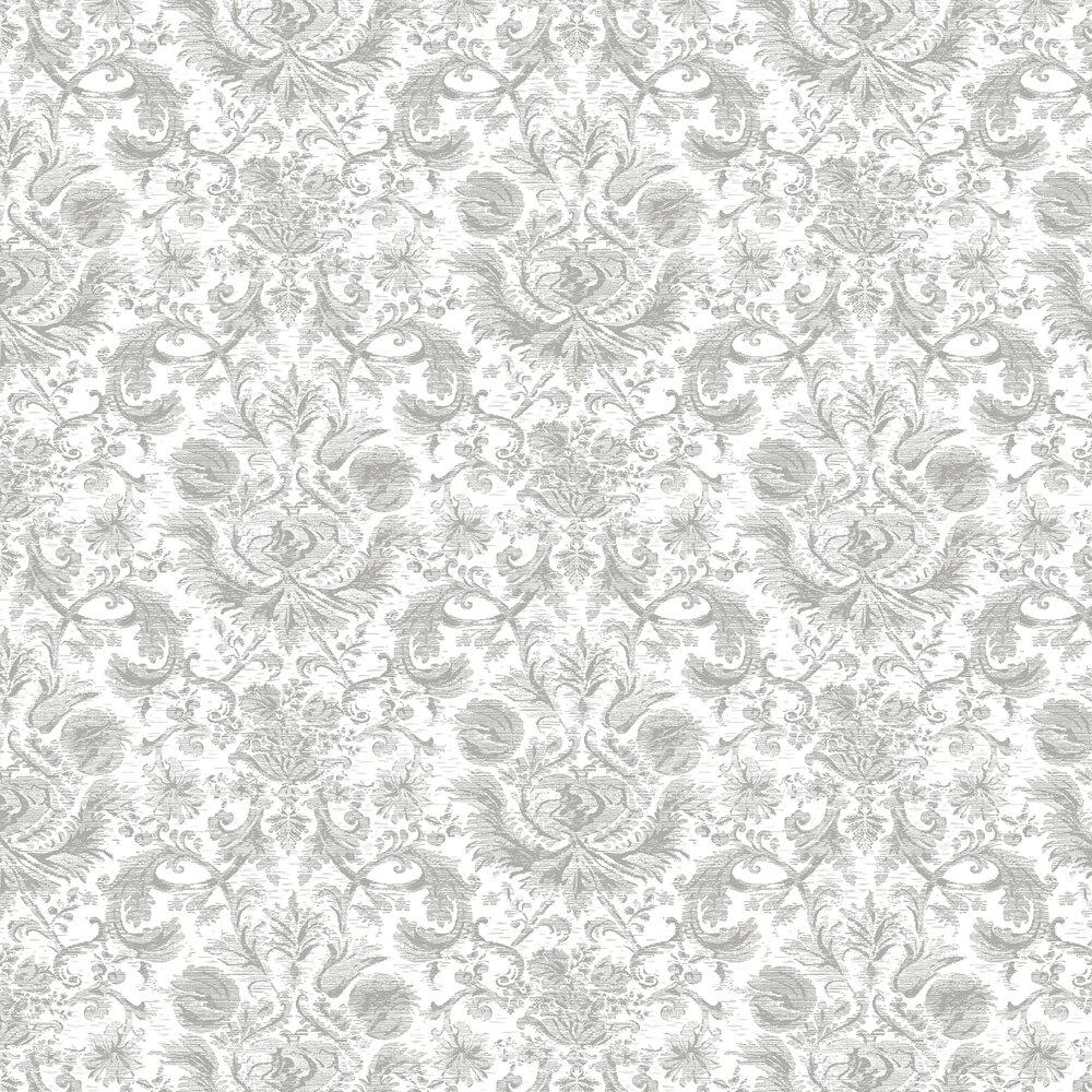 Classy Wallpaper - Silver - by Hooked on Walls