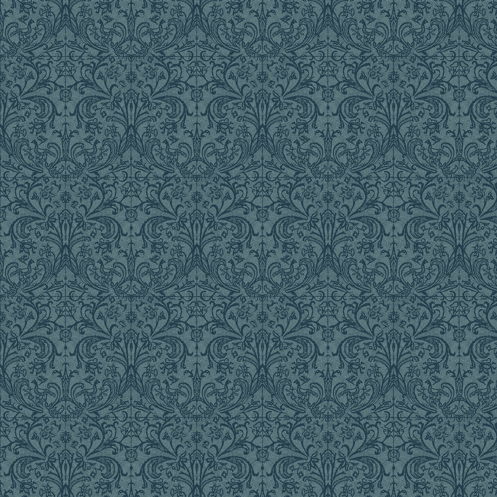 Graceful Wallpaper - Teal - by Hooked on Walls