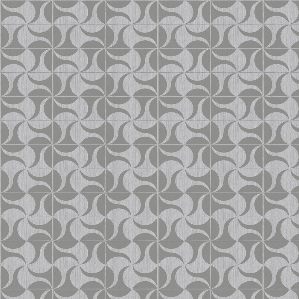 Hooked on Walls Sway Silver Wallpaper - Product code: 15540