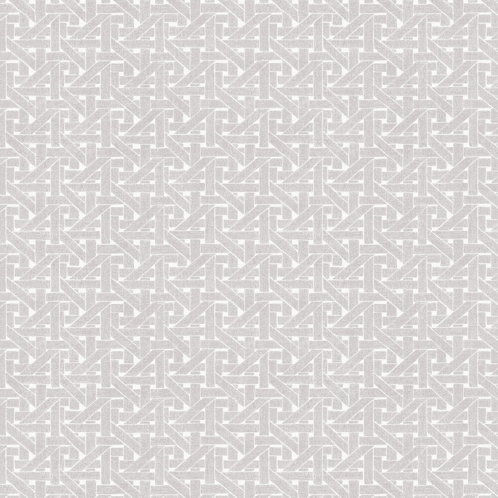 Twine Wallpaper - Silver - by Hooked on Walls