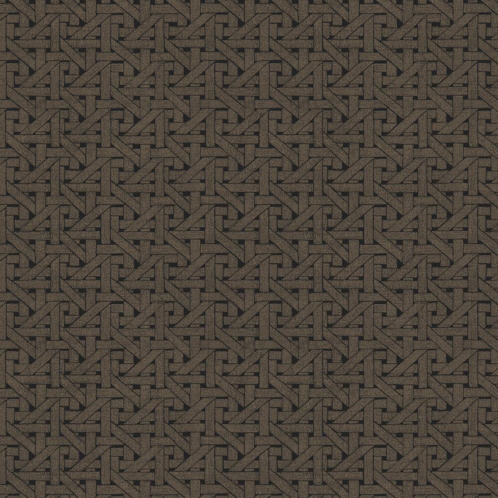 Hooked on Walls Twine Black / Dark Bronze Wallpaper - Product code: 15535