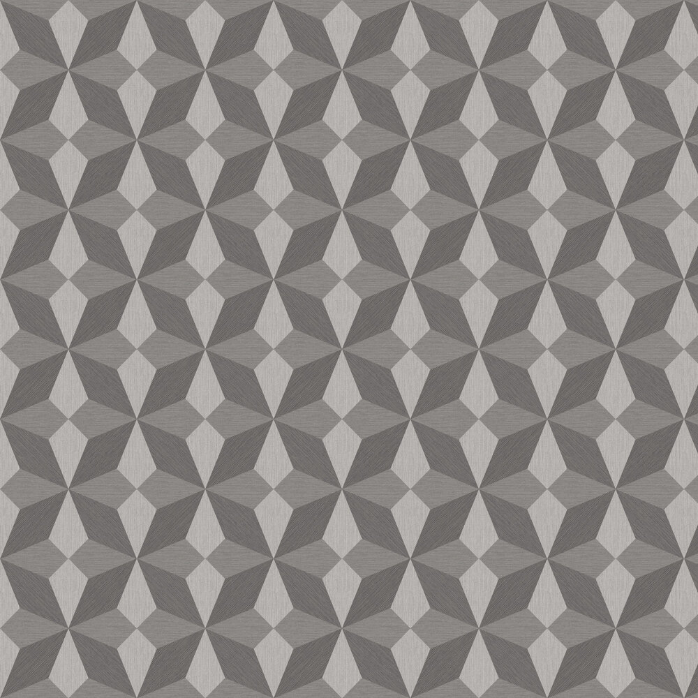 Faux Grasscloth Geo Wallpaper - Silver and Grey - by Albany