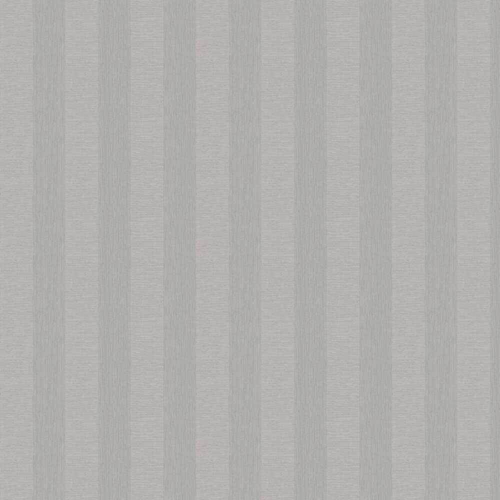 Faux Grasscloth Stripe Wallpaper - Grey - by Albany