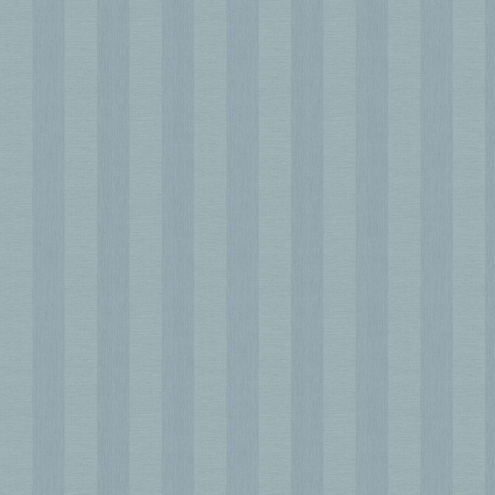 Faux Grasscloth Stripe Wallpaper - Blue - by Albany