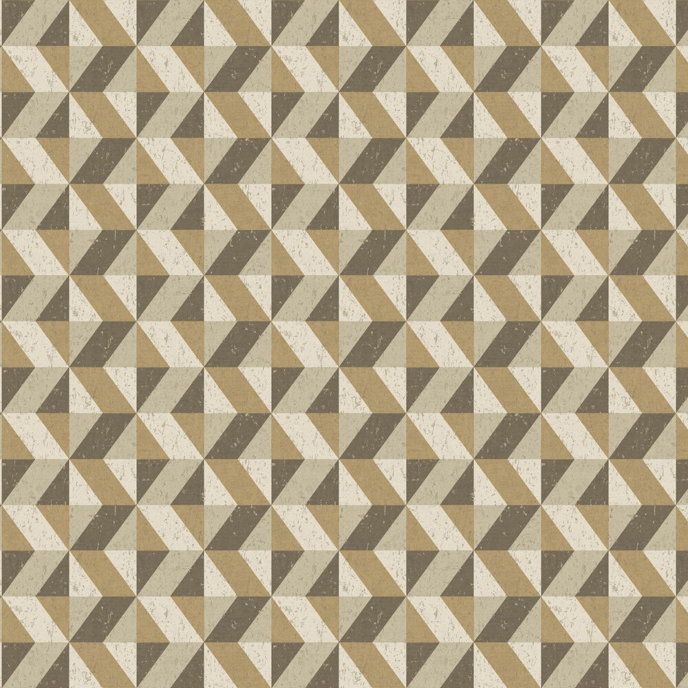 Cork Triangles Wallpaper - Gold - by Albany