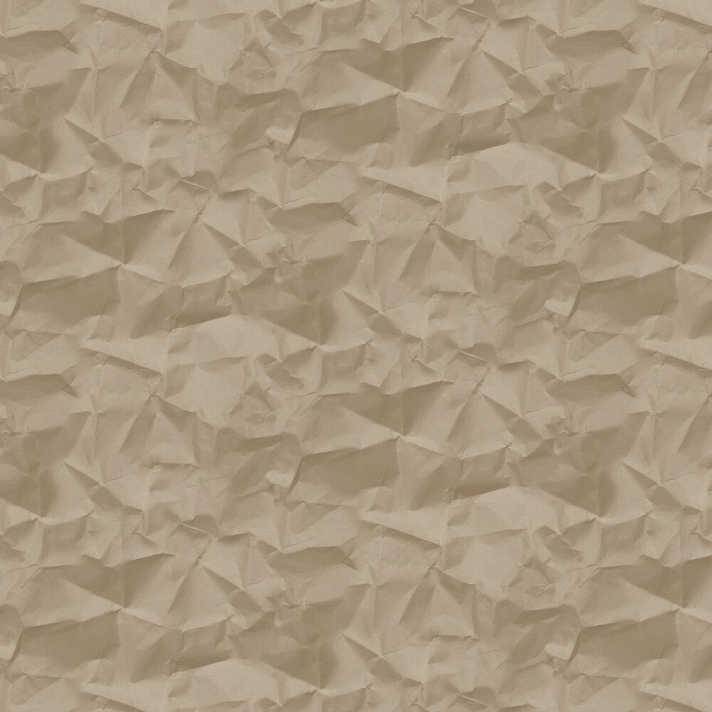 Crinkle Wallpaper - Milk Chocolate - by Hooked on Walls