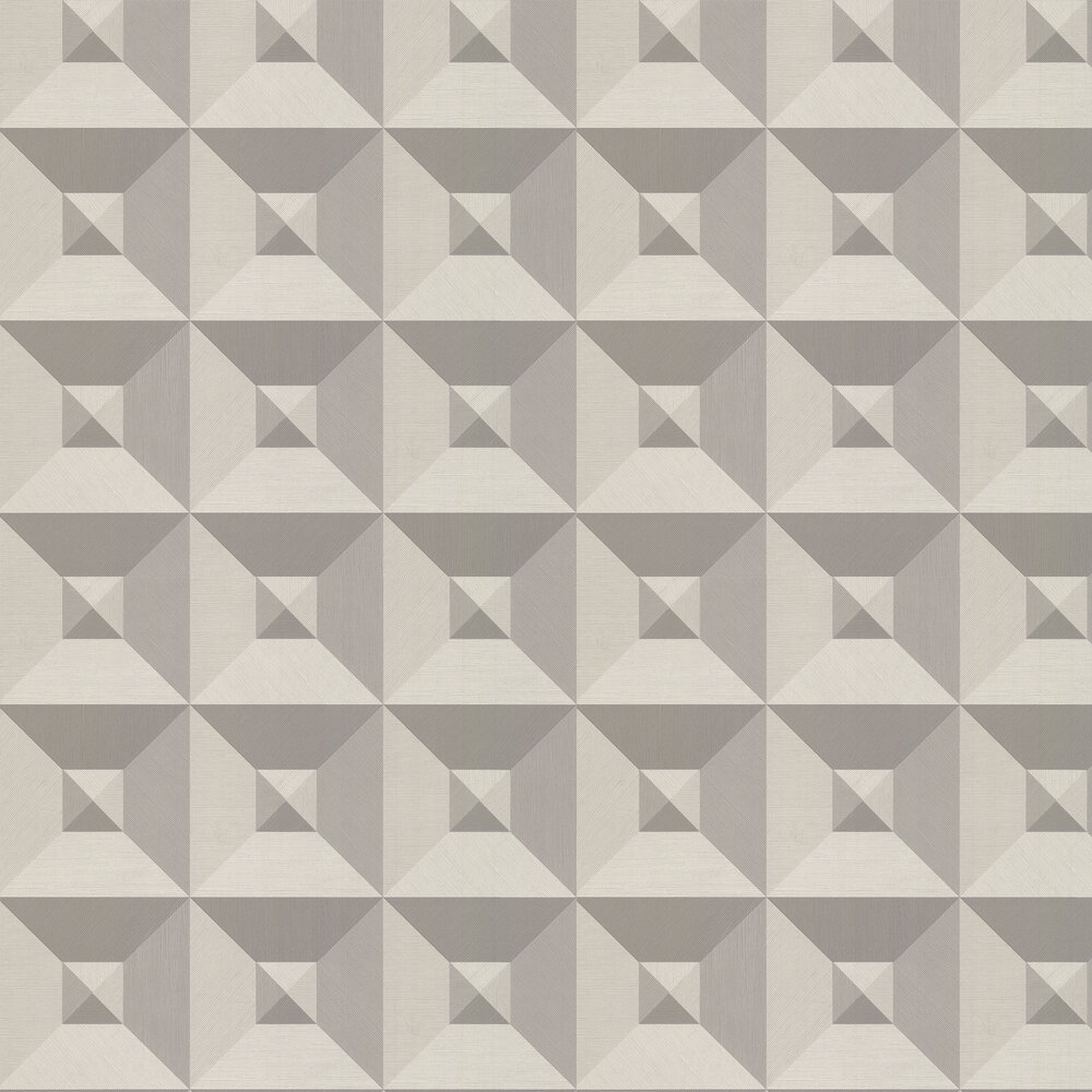 Pyramid Wallpaper - Silver / Grey - by Arte