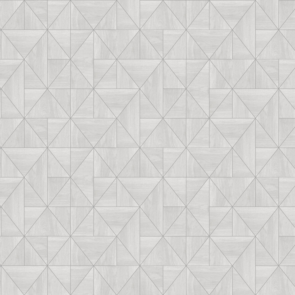 Diamond Wood Wallpaper - Grey and Silver - by Albany