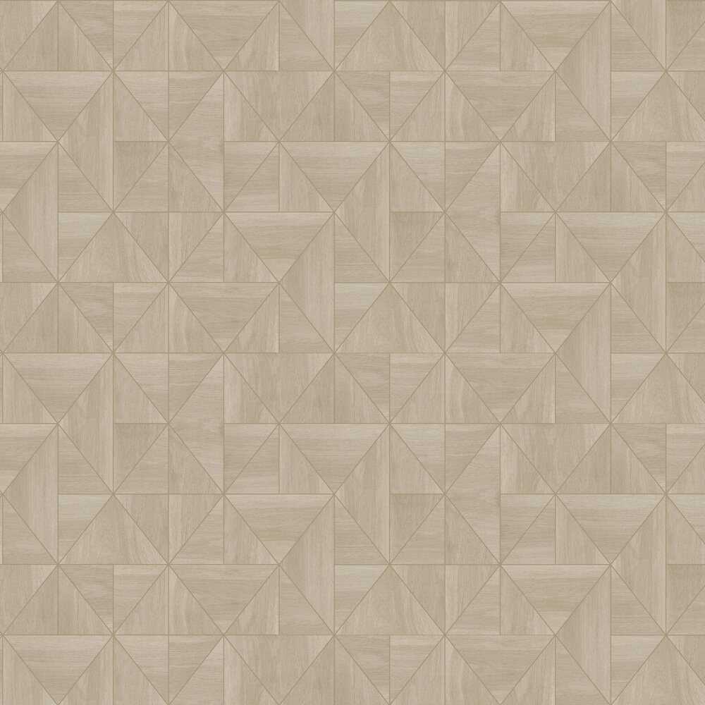 Diamond Wood Wallpaper - Natural and Gold - by Albany