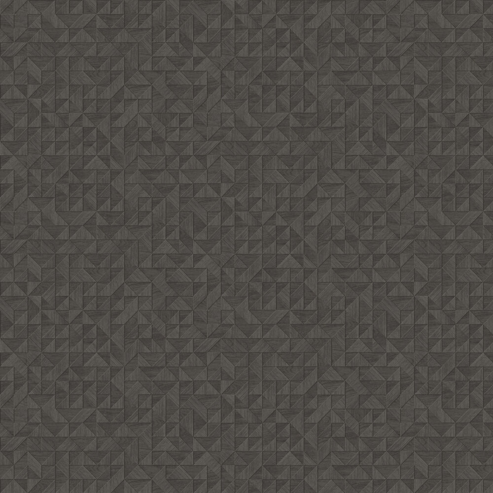 Small 3D Wood Wallpaper - Black - by Albany