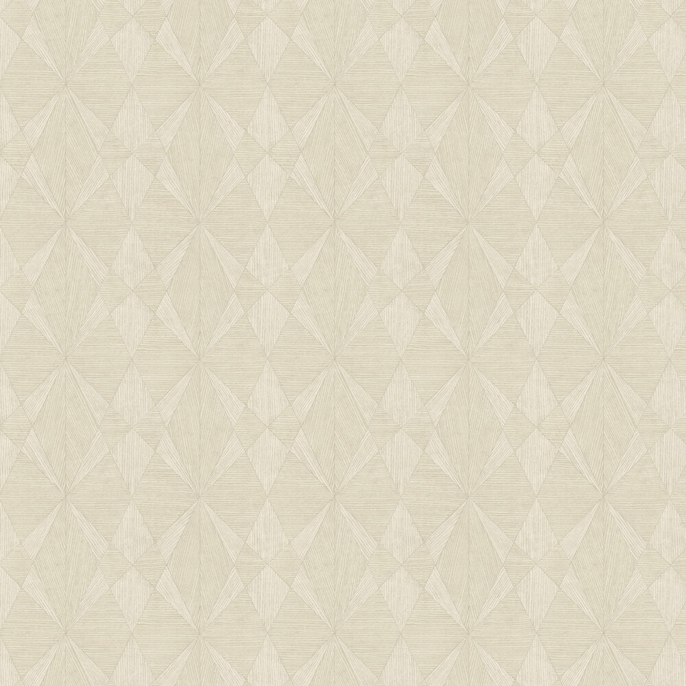 Laminated Plywood Wallpaper - Cream - by Albany