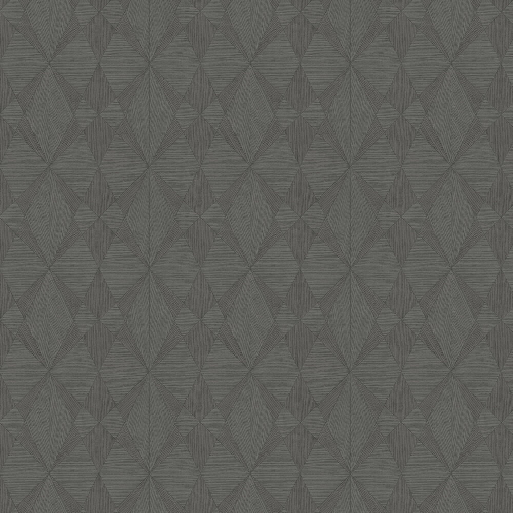 Laminated Plywood Wallpaper - Dark Grey - by Albany