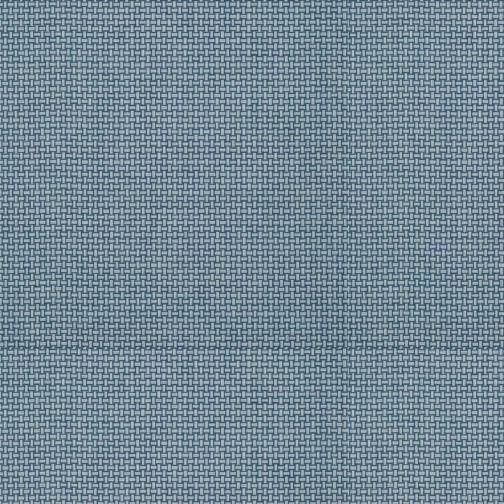 Baker Weave Wallpaper - Navy - by Thibaut