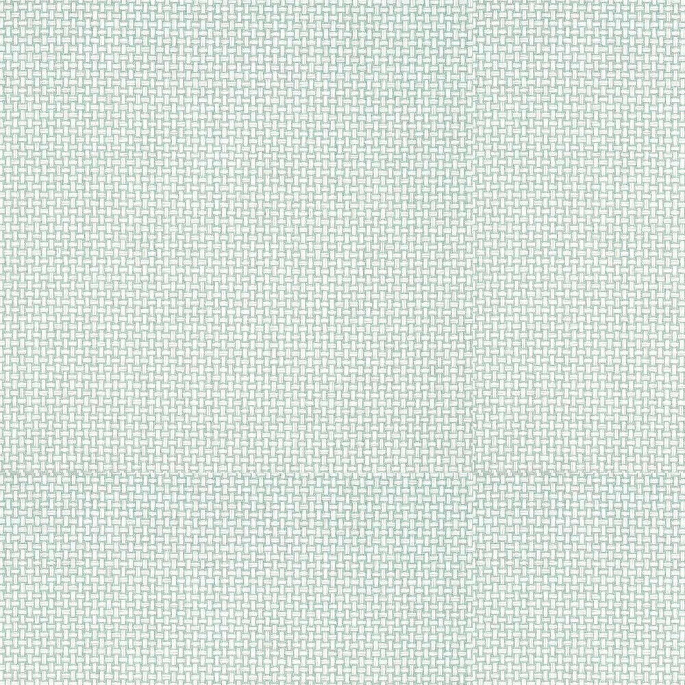 Baker Weave Wallpaper - Aqua - by Thibaut