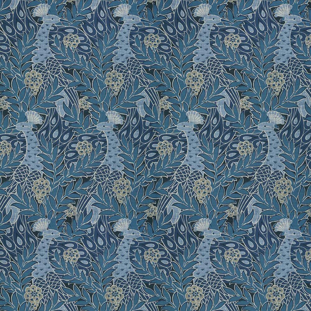 Desmond Wallpaper - Navy - by Thibaut