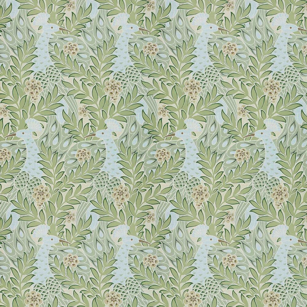 Desmond Wallpaper - Aqua - by Thibaut