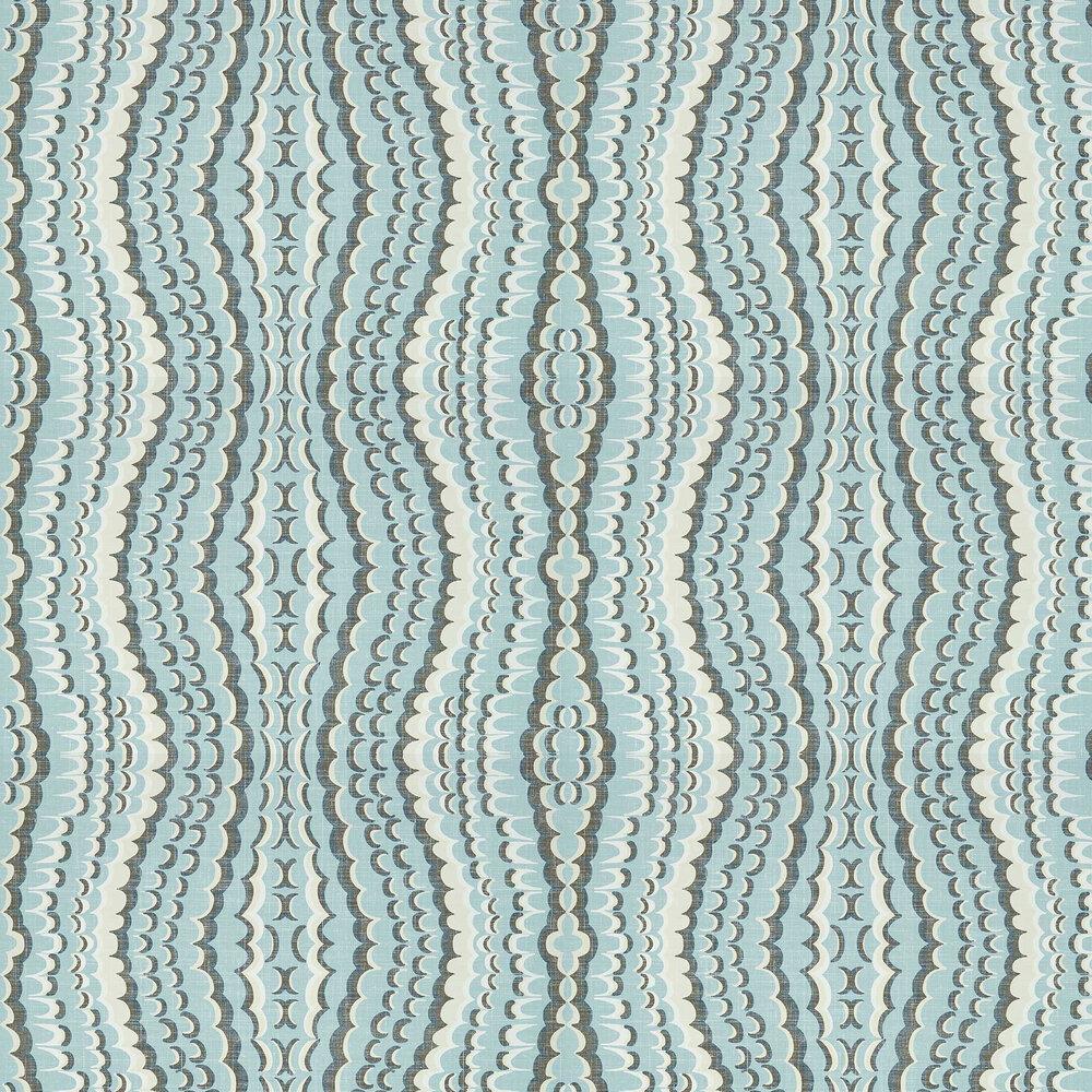 Ebru Wallpaper - Aqua - by Thibaut