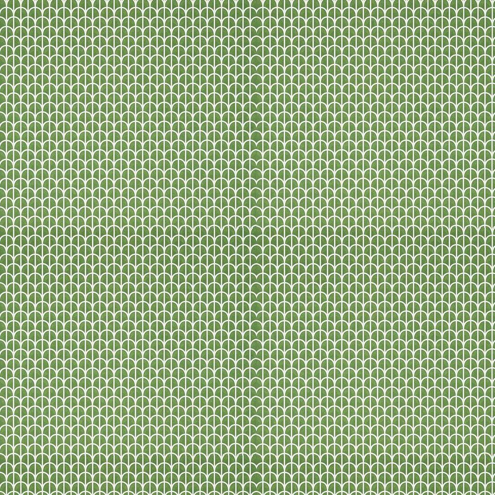 Hillock Wallpaper - Green - by Thibaut