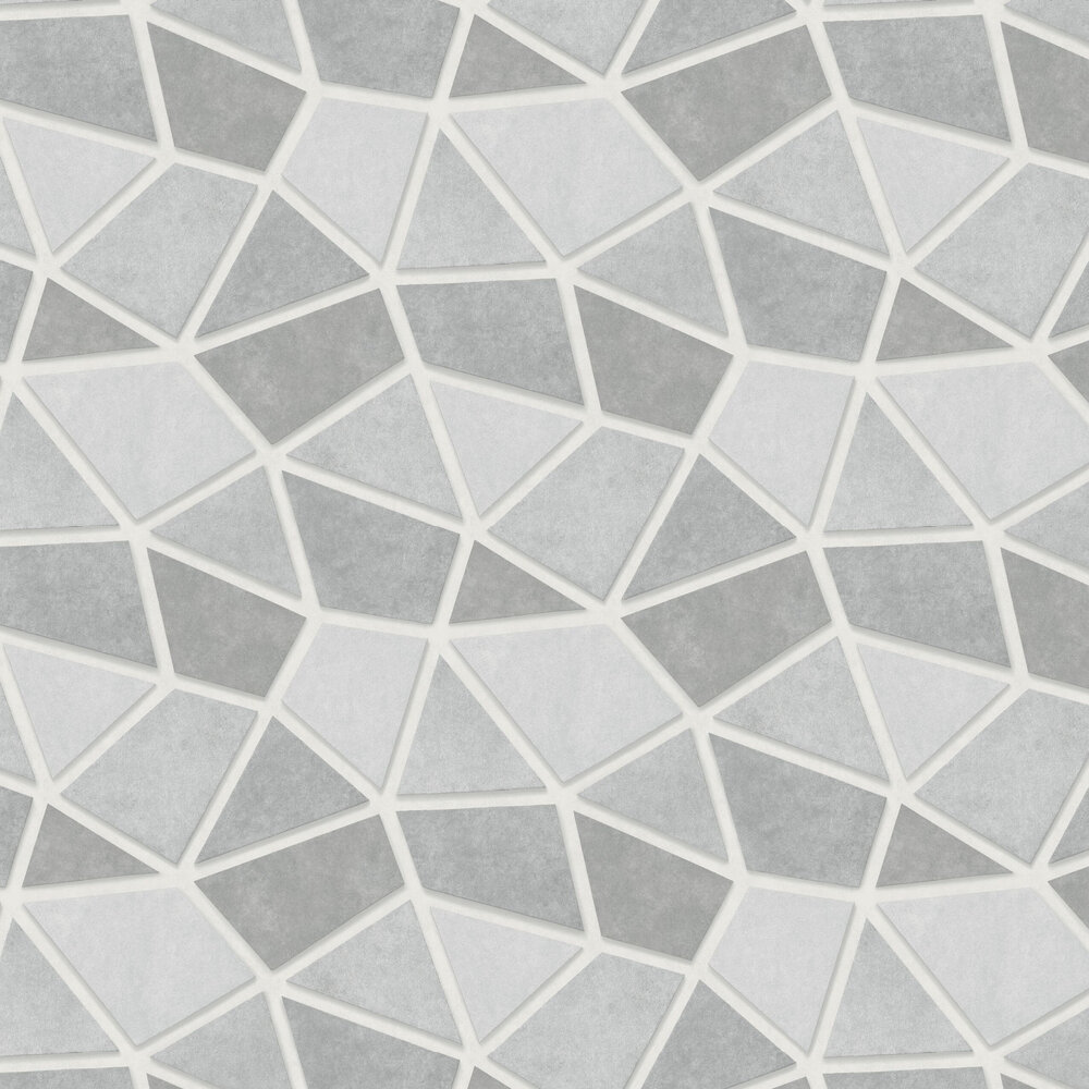 Metallic Triangles Wallpaper - Grey and Silver - by Albany