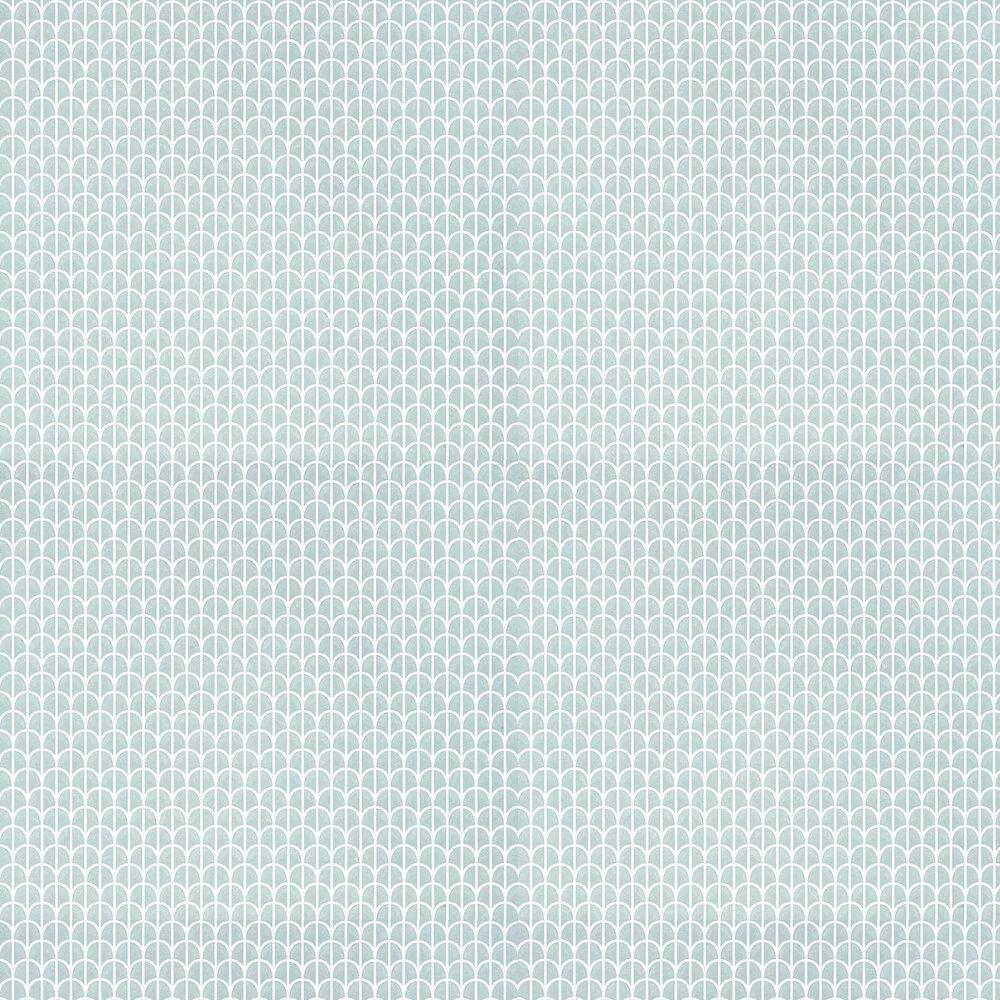 Hillock Wallpaper - Aqua - by Thibaut