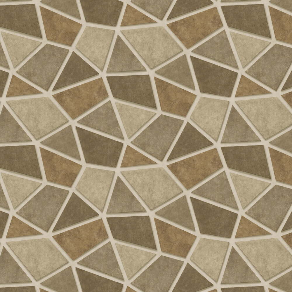 Metallic Triangles Wallpaper - Gold and Copper - by Albany