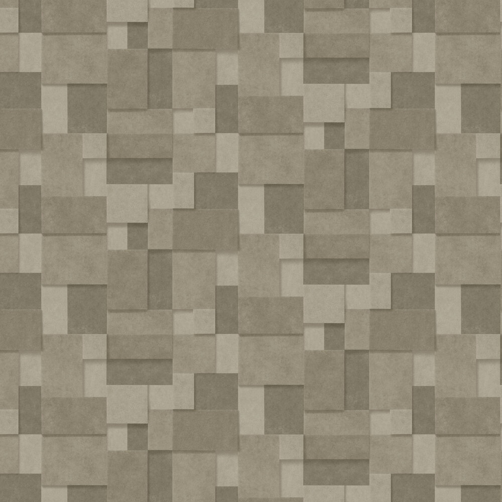 Metallic Squares Wallpaper - Gold - by Albany