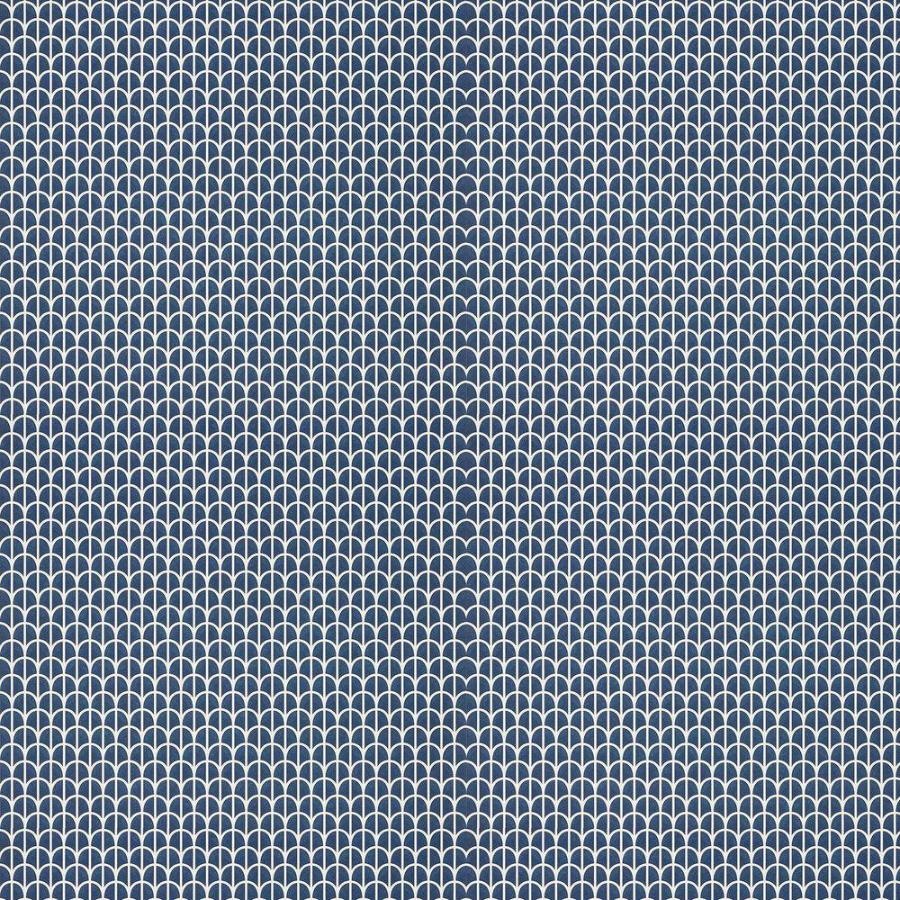 Hillock Wallpaper - Navy - by Thibaut