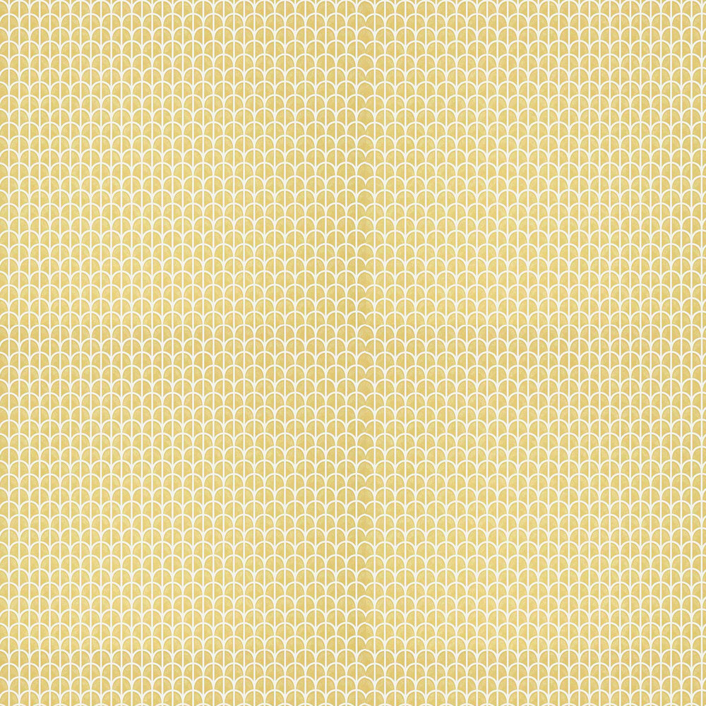 Hillock Wallpaper - Yellow - by Thibaut