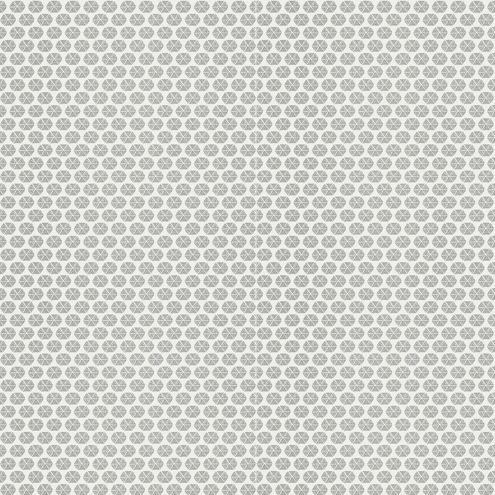 Parada Wallpaper - Black / White - by Thibaut