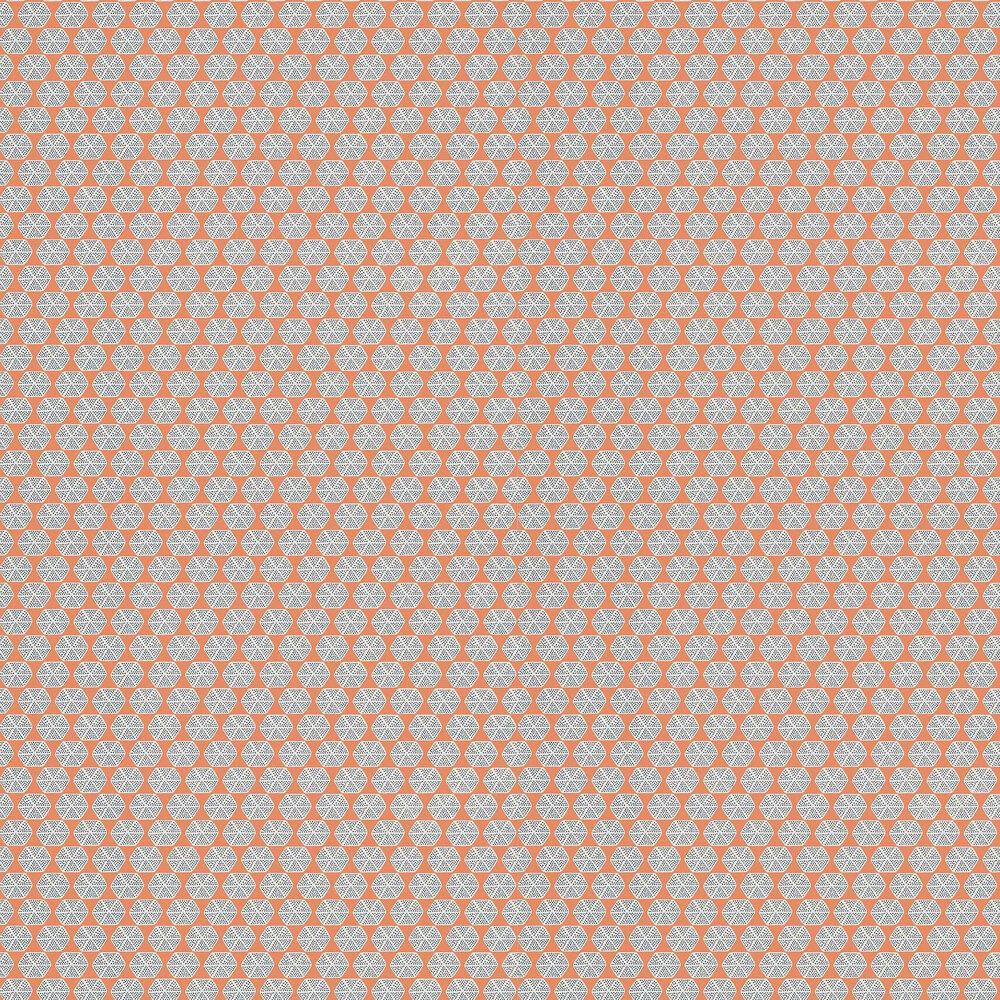 Parada Wallpaper - Orange - by Thibaut