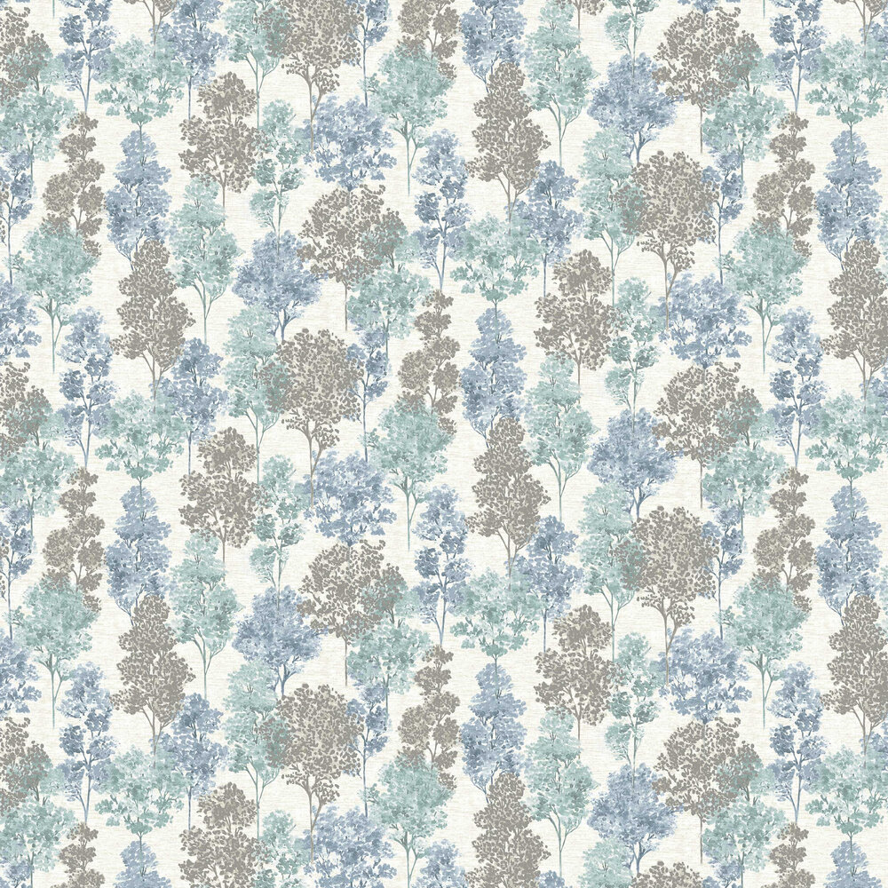Whinfell Wallpaper - Teal & Blue - by Albany
