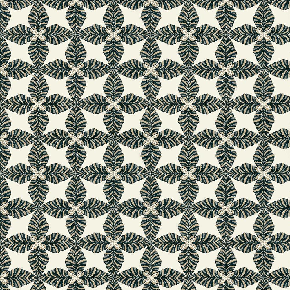 Starleaf Wallpaper - Black - by Thibaut
