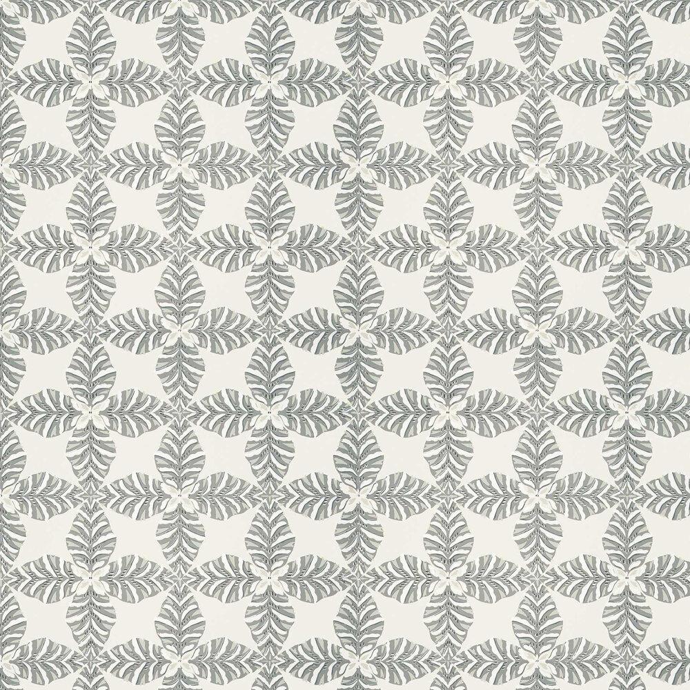 Starleaf Wallpaper - Silver Grey - by Thibaut