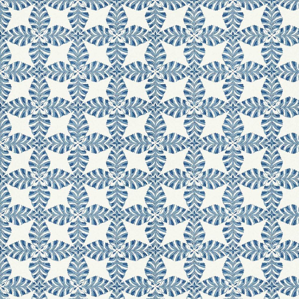 Starleaf Wallpaper - Blue - by Thibaut