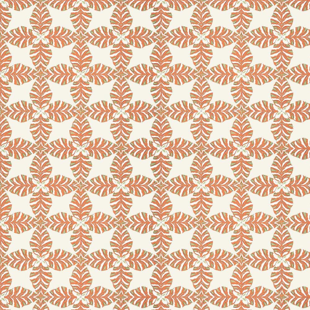 Starleaf Wallpaper - Orange - by Thibaut
