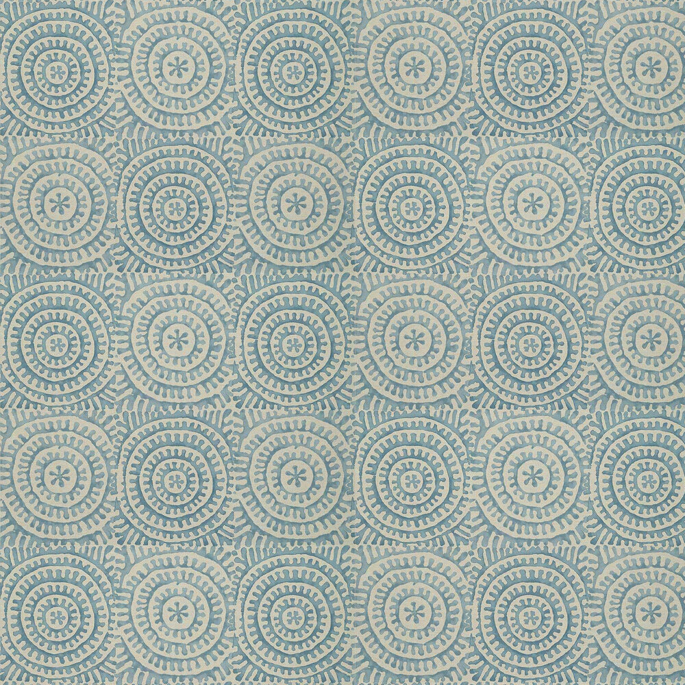 Kasai Wallpaper - Aqua - by Thibaut