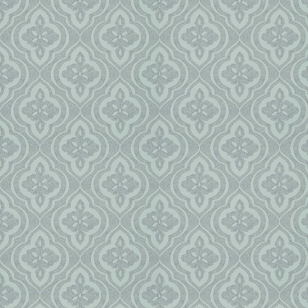 Ophelia Wallpaper - Aqua - by Thibaut