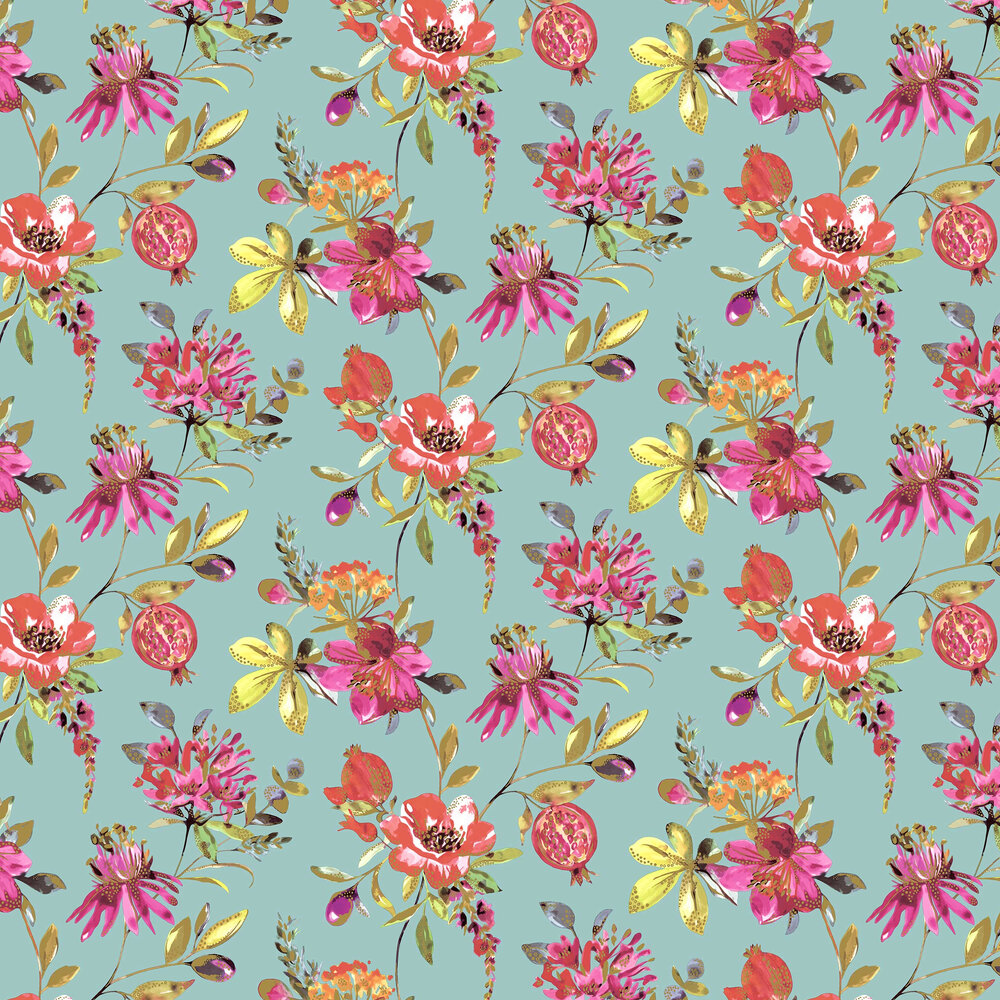 Punica Wallpaper - Soft Teal - by Albany