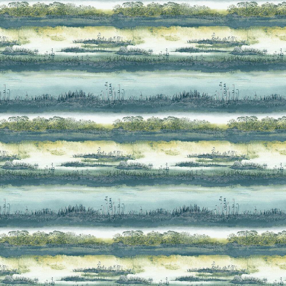 Aaru Wallpaper - Teal - by Albany