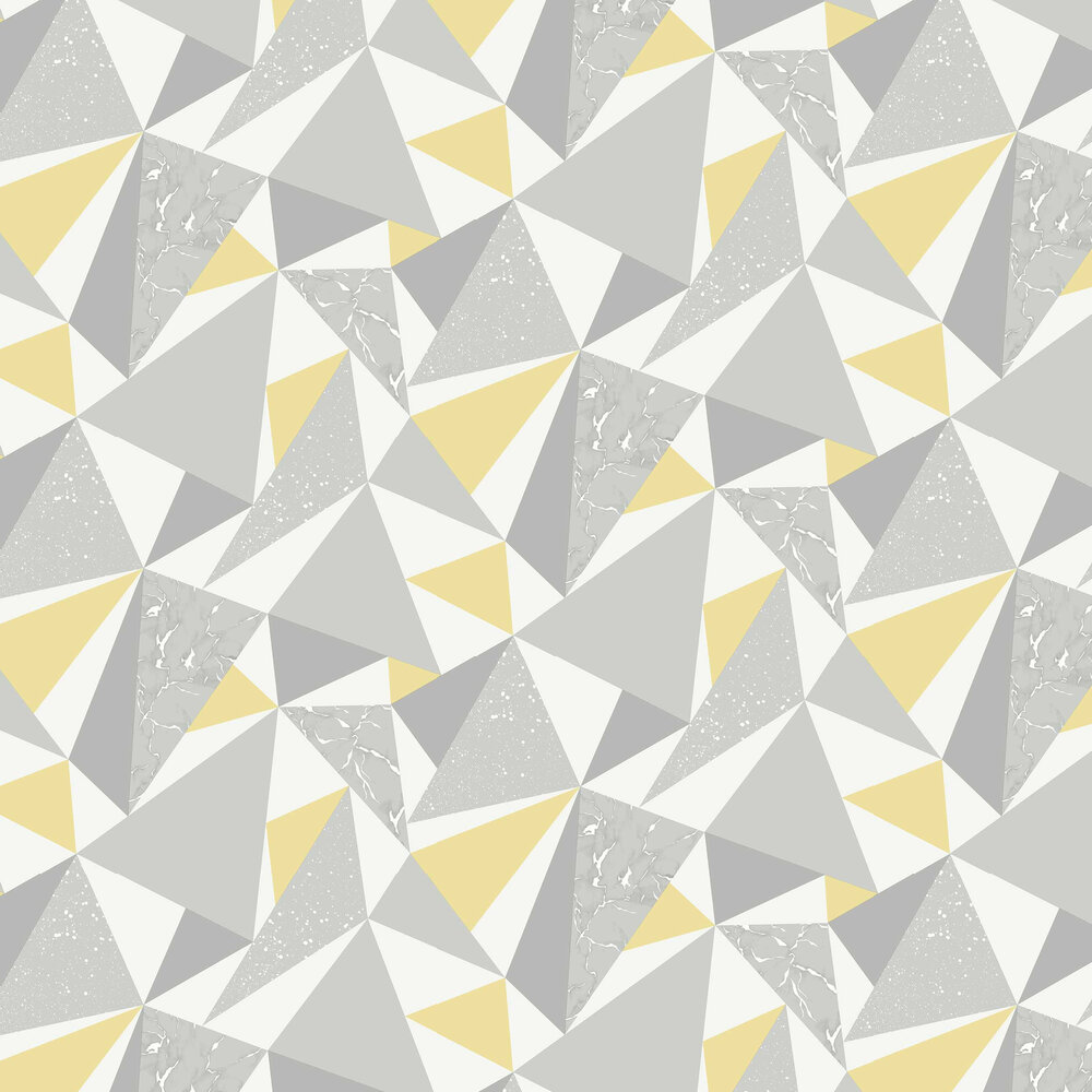 Glacier Wallpaper - Grey and Yellow - by Albany