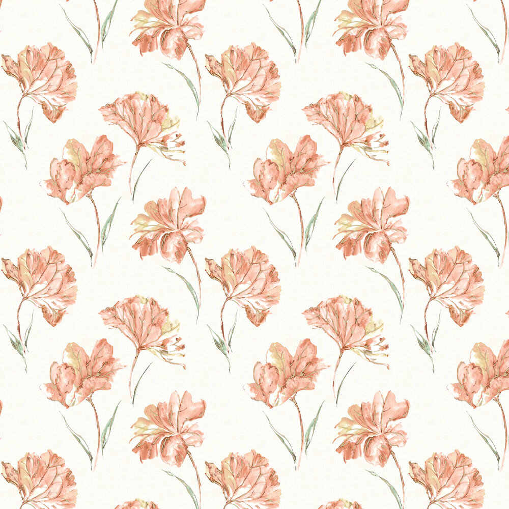 Albany Azalea Orange Wallpaper - Product code: 90480