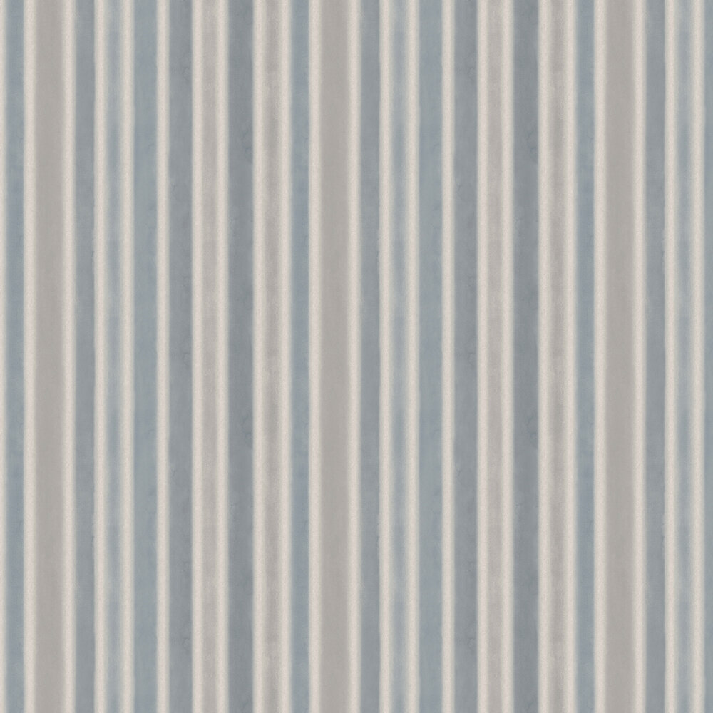 Watercolour Stripe Wallpaper - Blue, Grey and Beige - by Boråstapeter