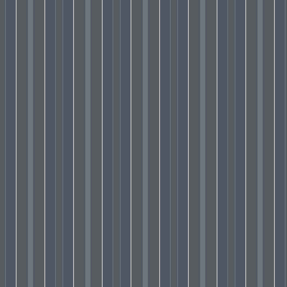 Boråstapeter Stockholm Stripe Dark Blue and Grey Wallpaper - Product code: 6874