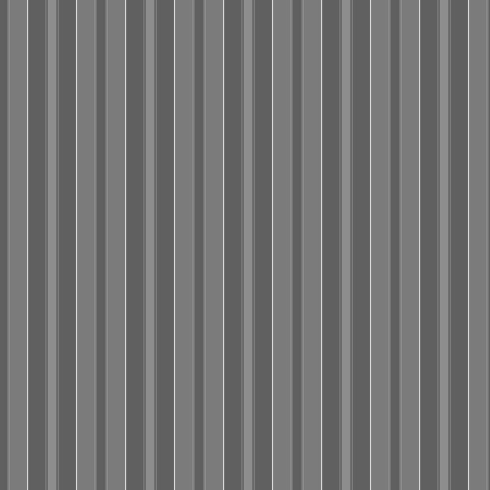 Stockholm Stripe Wallpaper - Black and Grey - by Boråstapeter