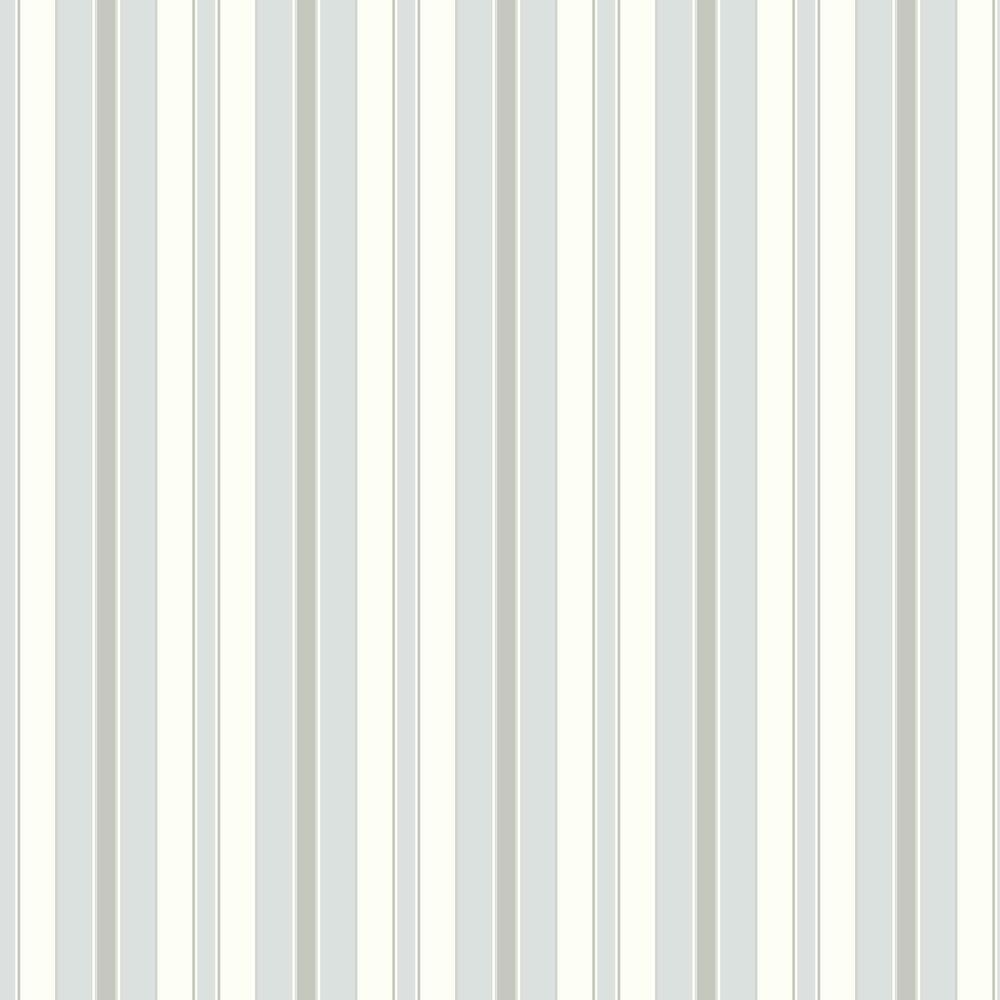 Boråstapeter Stockholm Stripe White, Grey and Light Blue Wallpaper - Product code: 6878