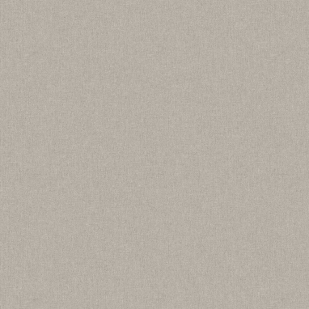 Linen Wallpaper - Taupe Grey - by Caselio
